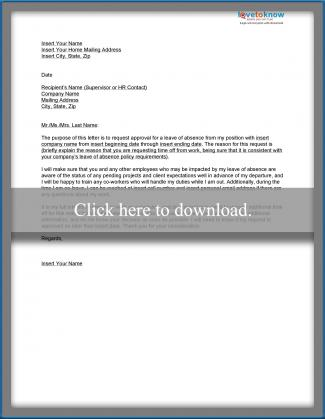 Medical leave of absence example letters lovetoknow download a sample leave of absence letter spiritdancerdesigns Images