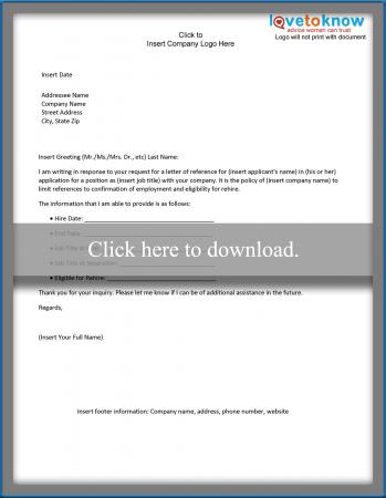 Limited Disclosure Business Reference Letter  Business Reference Letter Template