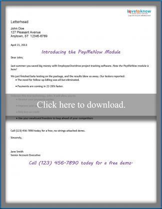 Direct mail letter sample 3