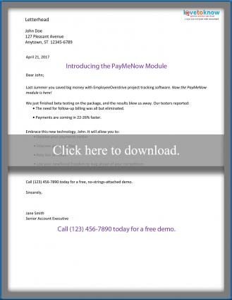 Sample Direct Mail Marketing Letters Lovetoknow