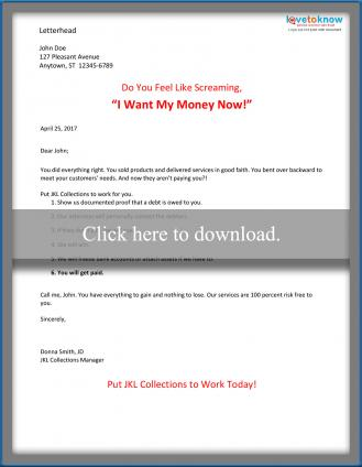 Direct mail service sales letter (business)