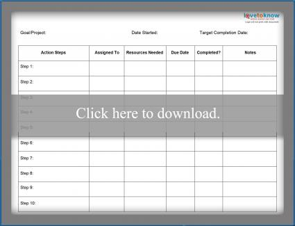 Action Plan Template | Business Action Plan Templates