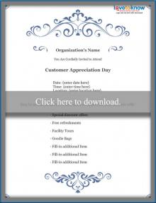 Business Customer Appreciation Flyer Template