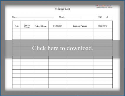 picture about Printable Mileage Log titled Mileage Log Templates LoveToKnow
