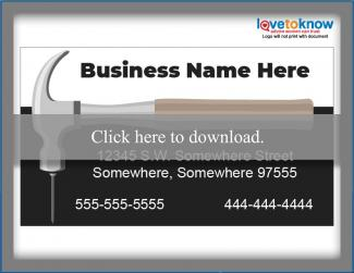 hammer theme business card