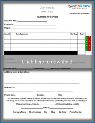 Contractor Quote Form - Portrait Orientation