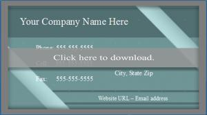 OpenOffice business card template 2