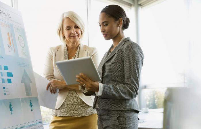 Businesswomen discussing in boardroom