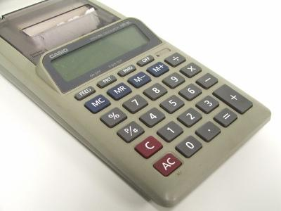 Standard accounting calculator