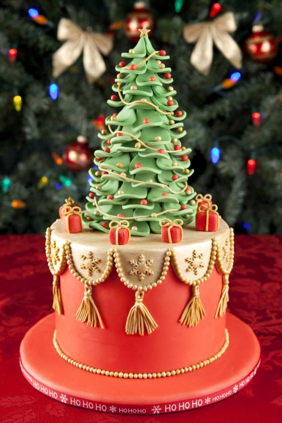 christmas tree cake - Christmas Cake Decorations