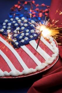 American Flag Cake and Fondant