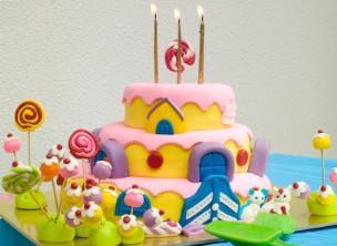 Novelty cake decorated with fondant