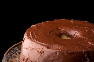 chocolate frosted angel food cake