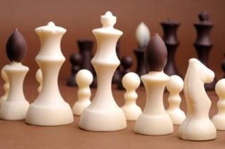 Chess pieces out of chocolate