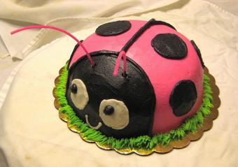 Round ladybug cake