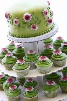 Stacked Cupcake Cake