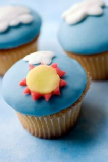 cupcake with sun