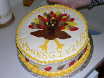 Thanksgiving 2-D turkey cake