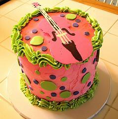 Pink viola birthday cake