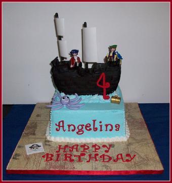 Elevated pirate cake.
