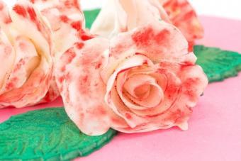 Roses made from gum paste; copyright Pamela Panella at Dreamstime.com