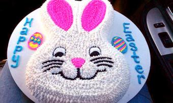easter bunny face cake