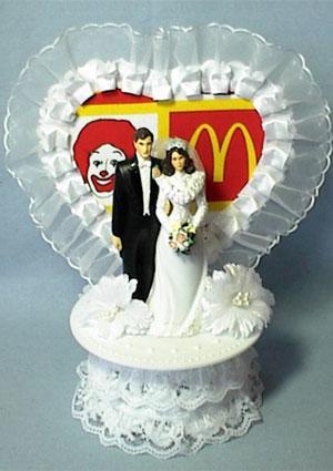 McDonalds Restaurant Wedding Cake Topper
