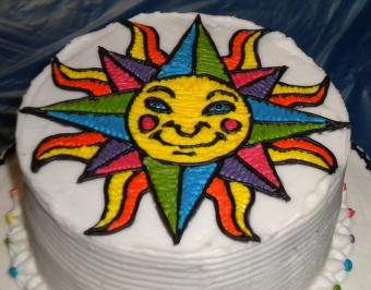 Cake Made with Piping Gel Transfer