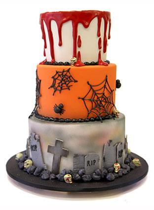 Halloween Graveyard Cakes
