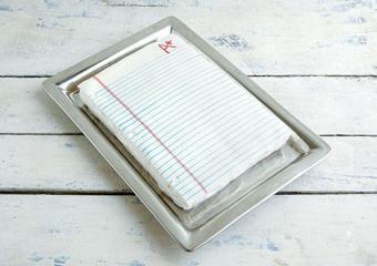 Notebook Paper Cake