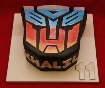 Transformers cake from www.cakeinacupny.com