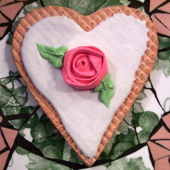 Rose Valentine Cookie