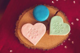 Stamped Fondant Valentine Cookies