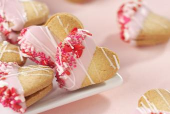 Dipped Heart Cookies