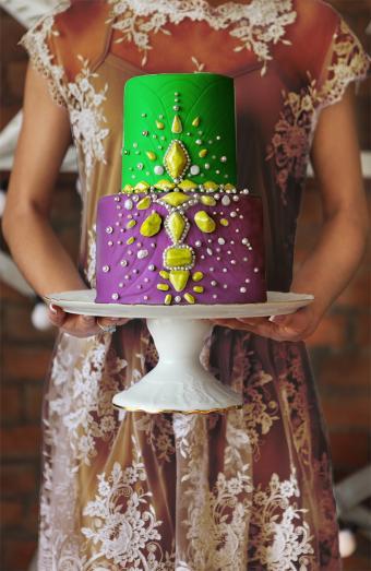 colorful gem cake