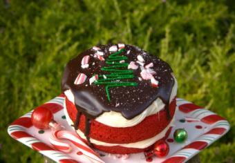 Chocolate Peppermint Tree Cake