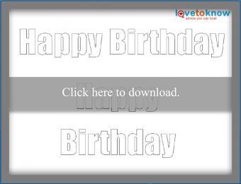 block Happy Birthday message