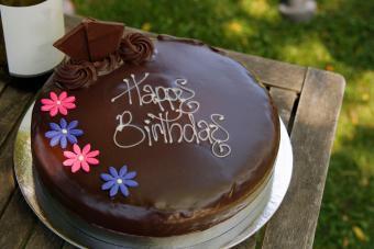 Birthday Message Cake
