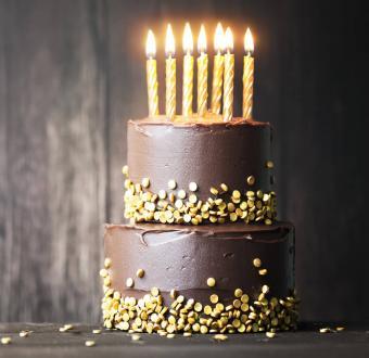 Elegant Gold Layer Cake