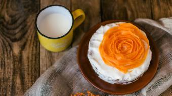 Orange Rose Carrot Cake