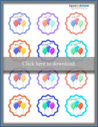 Print the balloon toppers.