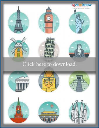 Click to print the landmark toppers.