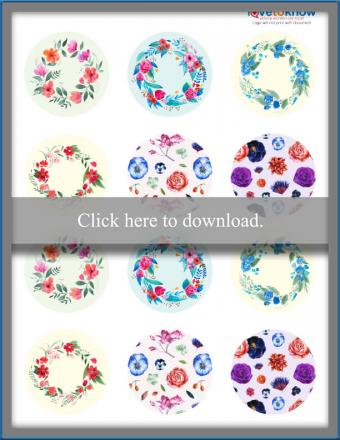 Click to print the flower decorations.