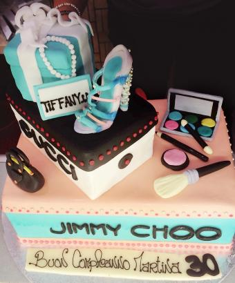 Fashionista designer birthday cake design