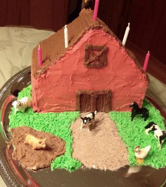 Easy Big Red Barn Cake