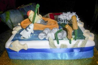 Lazy fisherman birthday cake