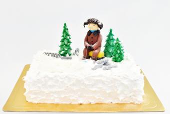 Ice fishing cake