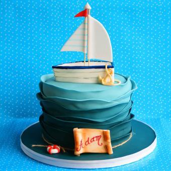 boating themed cake