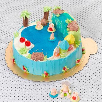 senior citizens swimming cake