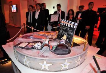 Dennis Hopper's film reel birthday cake